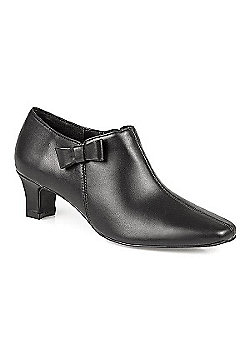 Pavers Smart Shoe Boot with Side Bow Black - 2 - Black