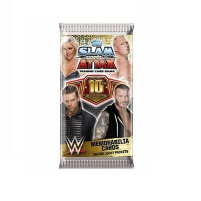 Topps - WWE Slam Attax - 10th Edition Single Booster Pack (1 x Supplied)