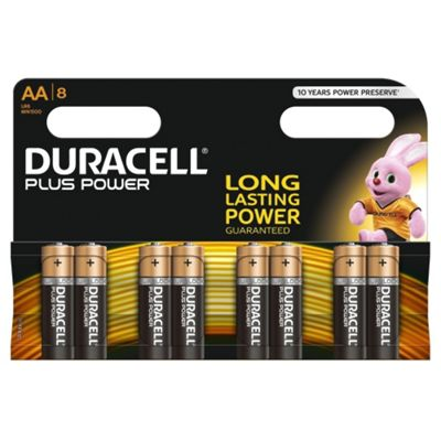 Duracell AA Plus Power Batteries (Pack of 8)