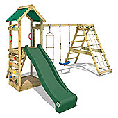 Wickey Starflyer Wooden Climbing Frame With Green Slide