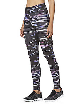 F&F Active Space Dye Leggings - Black & Multi