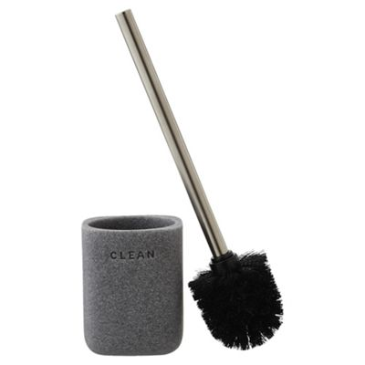 buy grey stone effect toilet brush holder from our. Black Bedroom Furniture Sets. Home Design Ideas