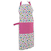 Homescapes Cotton Polka Dot Multi Colour Unisex Apron With Pocket