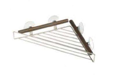 Möve Combo Metals Shower Rack Triangular in Walnut