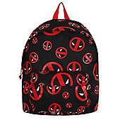 Deadpool Marvel All Over Logo Black Backpack 35x44cm