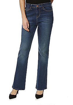 F&F Authentic Mid Rise Bootcut Jeans - Indigo wash
