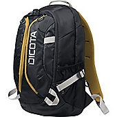 "Dicota Active Carrying Case (Backpack) for 39.6 cm (15.6"") Notebook, iPad, Tablet - Black, Yellow"