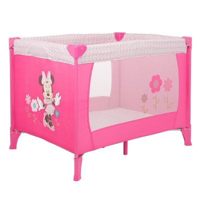 Obaby Disney Retro Minnie Travel Cot in Pink