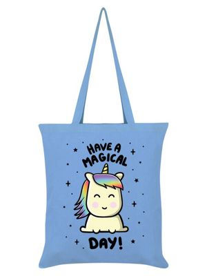 Have A Magical Day Sky Blue Tote Bag 38x42cm