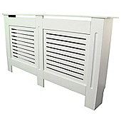 Jack Stonehouse Horizontal Slat Painted MDF Radiator Cover Large