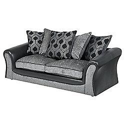 Arabella Large 3 Seater Sofa, Geometric Dark Grey