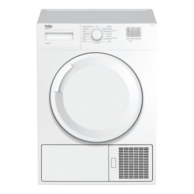 Beko-DTGC8000W Freestanding Condenser Tumble Dryer with 8Kg Load Capacity and 15 Drying Programmes