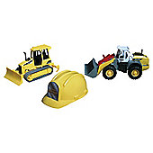 Construction Vehicle With Helmet Set