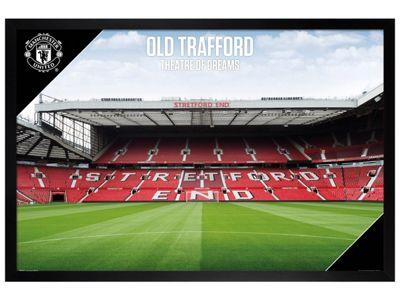 Manchester Utd FC Black Wooden Framed Old Trafford 17-18 Poster 61x91.5cm