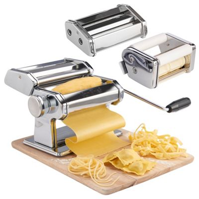 VonShef 3 in 1 Stainless Steel Pasta Maker