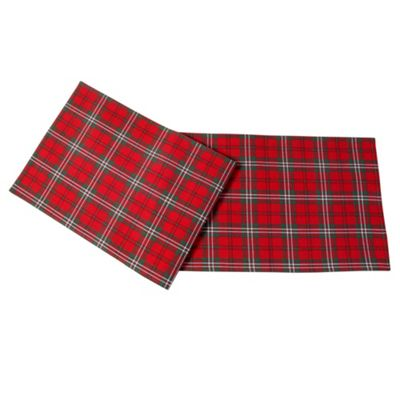 Homescapes Cotton Christmas Prince Edward Tartan Pack of 2 Placemats