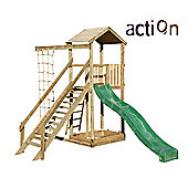 Action Monmouth Wooden Climbing Frame with Slide and Climbing Net