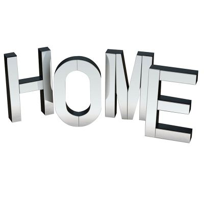 HOME Large mirrored freestanding or wall decorative letters