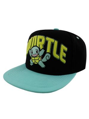 Pokemon Squirtle Turquoise Snapback Cap