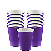 Purple Cups - 266ml Paper Party Cups - 20 Pack