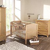 East Coast Hudson 3 Piece Nursery Room Set with Sprung Mattress (Antique)