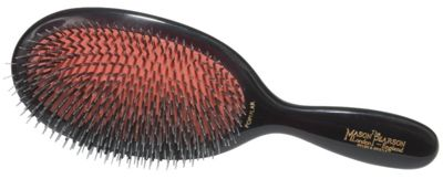Mason Pearson BN1 Bristle and Nylon Popular Hair Brush - Dark Ruby