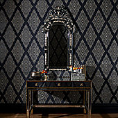 Graham & Brown Julien MacDonald Jewel Wallpaper - Black / Gold