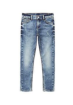 F&F Acid Wash Stretch Skinny Fit Jeans - Denim