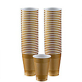 Gold Cups - 355ml Plastic Party Cups - 50 Pack