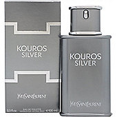 Yves Saint Laurent Kouros Silver Eau de Toilette (EDT) 100ml Spray For Men