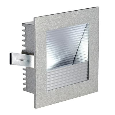 Frame Curve LED Recessed Wall Light Square Silvergrey Neutral White LED