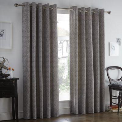Dreams n Drapes Hanworth Heather Eyelet Curtains 66x72 Inches (168x183cm)