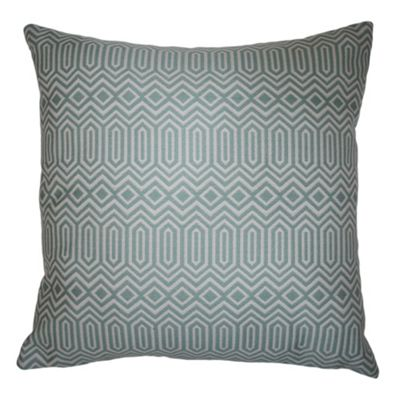 McAlister Smooth Touch Cushion Cover Duck egg Blue Geometric Design