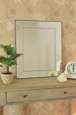 Large Single Edge Venetian Bevelled Big Wall Mirror New 2Ft2 X 1Ft10 66Cm X 56Cm