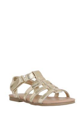 F&F Gladiator Sandals Gold Child 7