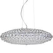 Litecraft Maison Crystal Ceiling Pendant, Chrome