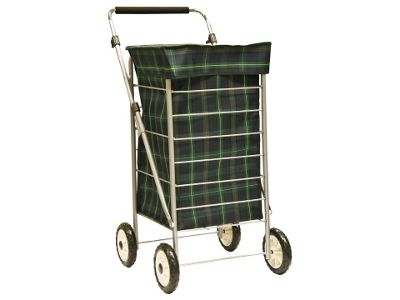 Sabichi 4 Wheel 60L Shopping trolley, Angus Tartan