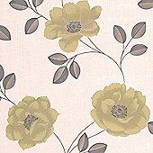 Superfresco Flavia Floral Green Wallpaper