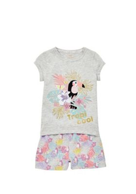 F&F Tropicool Slogan Pyjamas Grey 18-24 months