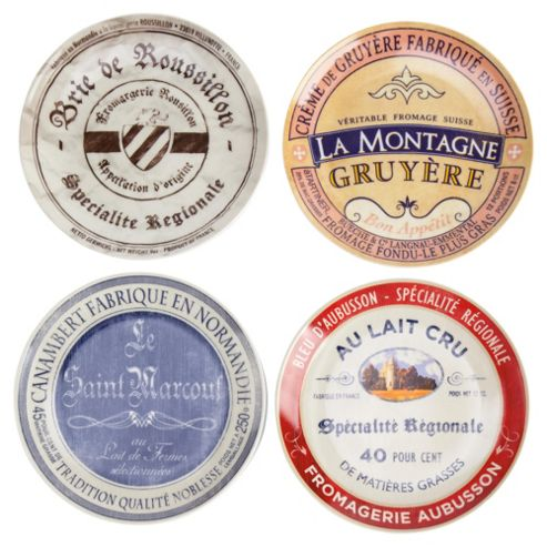 Gourmet Cheese Plates Set of 4