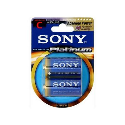 Sony Stamina Platinum Alkaline Batteries - Blister of 2