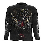 Steam Punk Bandit All-Over T-Shirt Long Sleeve Adult Male Extra Large Black - Other