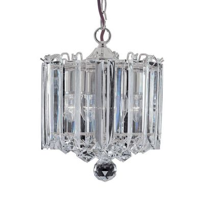SIGMA 3 LIGHT CHROME CLEAR ACRYLIC PENDANT