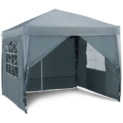 VonHaus Pop Up Gazebo 2.5x2.5m Set - Outdoor Garden Marquee with Water-resistant Cover