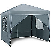 VonHaus Pop Up Gazebo 2.5x2.5m Set - Outdoor Garden Marquee with Water-resistant Cover