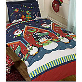 Santas Grotto Christmas Themed Toddler Bedding