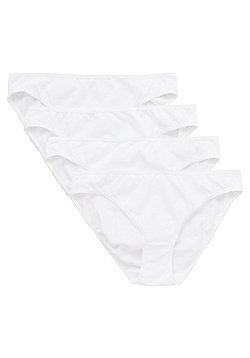 F&F 4 Pack of Mini Briefs with As New Technology - White