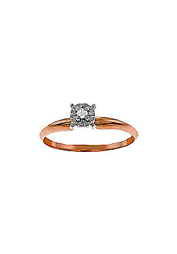 QP Jewellers 0.03ct SI-2 Diamond Crown Solitaire Ring in 14K Rose Gold