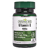 Natures Aid Vitamin E 400iu Natural Form - 60 Softgels