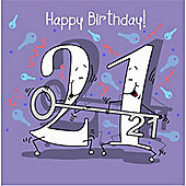 Happy Birthday, 21 Today Male Greetings Card